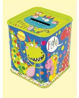 Dinosaur Tin Money Box